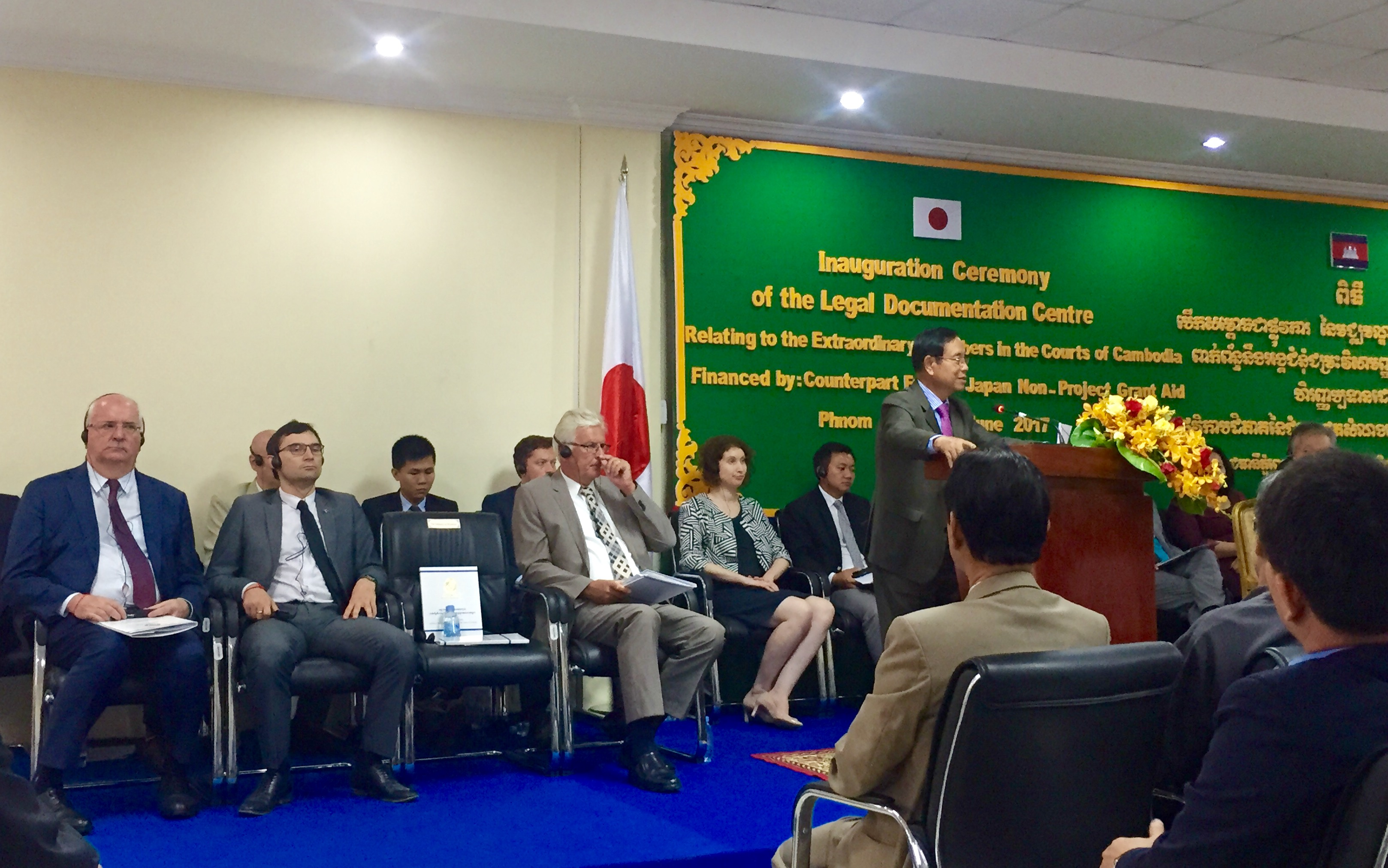Law Students and Law Professors of Asia Euro University Attended the Inauguration Ceremony of Legal Documentation Center (LDC)
